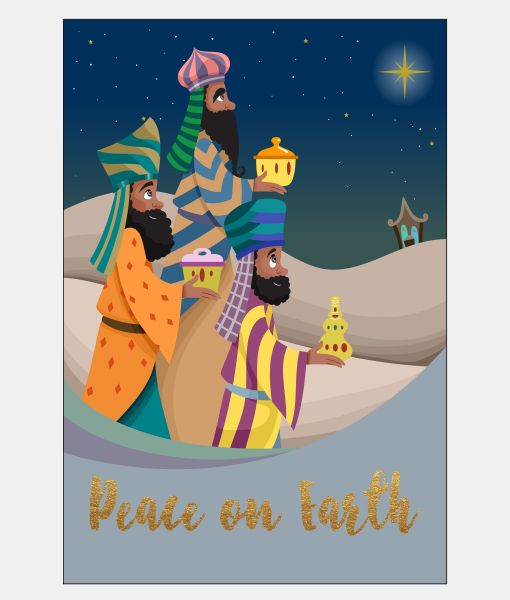Three Kings African American Christmas Card set from Sweet Berry Lane