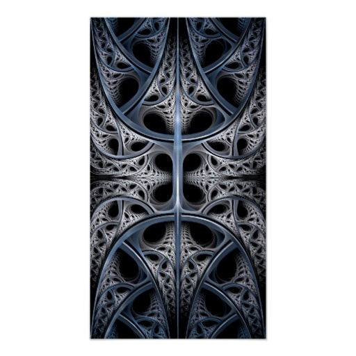 Skeletal Hall fractal art Poster  $13.00 #abstract #fractal #gothic #modern