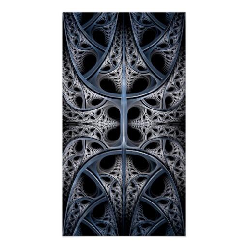 Skeletal Hall fractal art Poster  $13.00 #abstract #fractal #gothic #modern