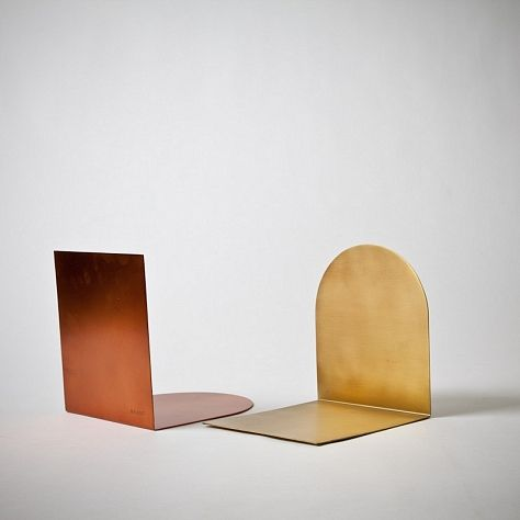 Book Stopper in Copper and Brass