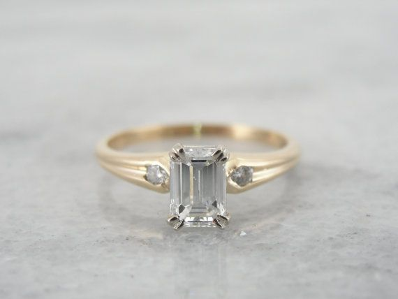 17 best ideas about emerald cut rings on