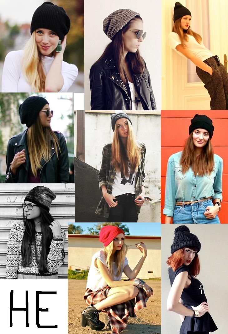 Different outfits to pair with a cute beanie  )  f1e910a2e59