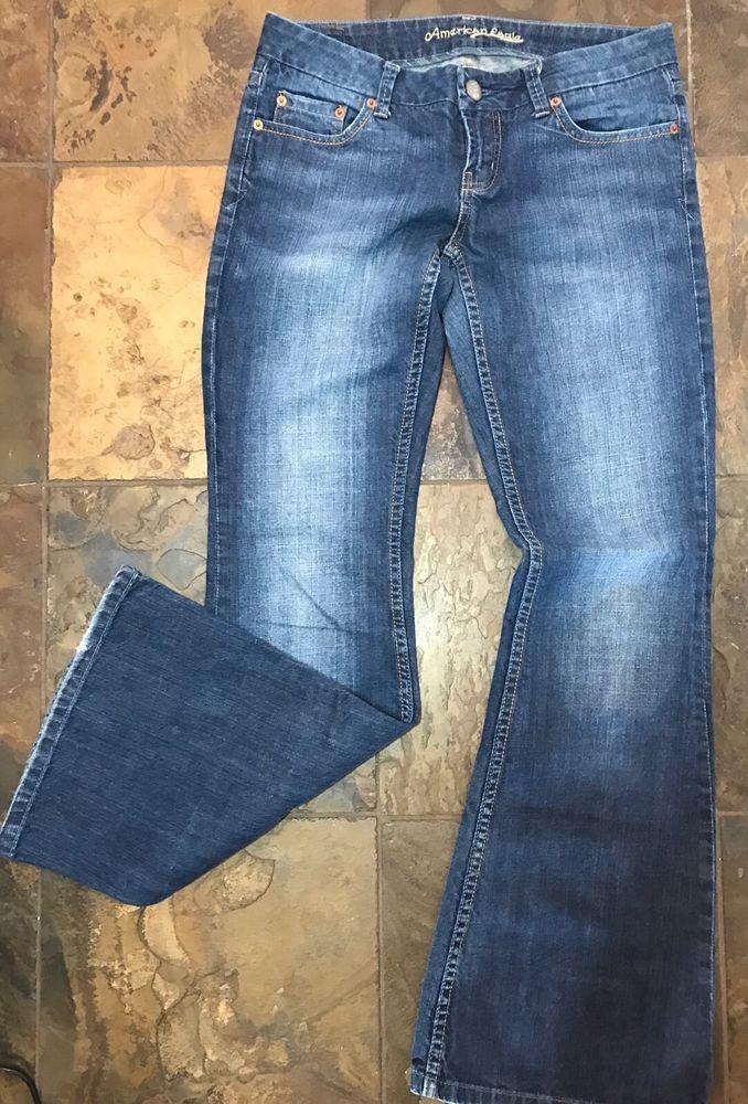 American Eagle Womens Flare Jeans Sz 4 AE  | eBay