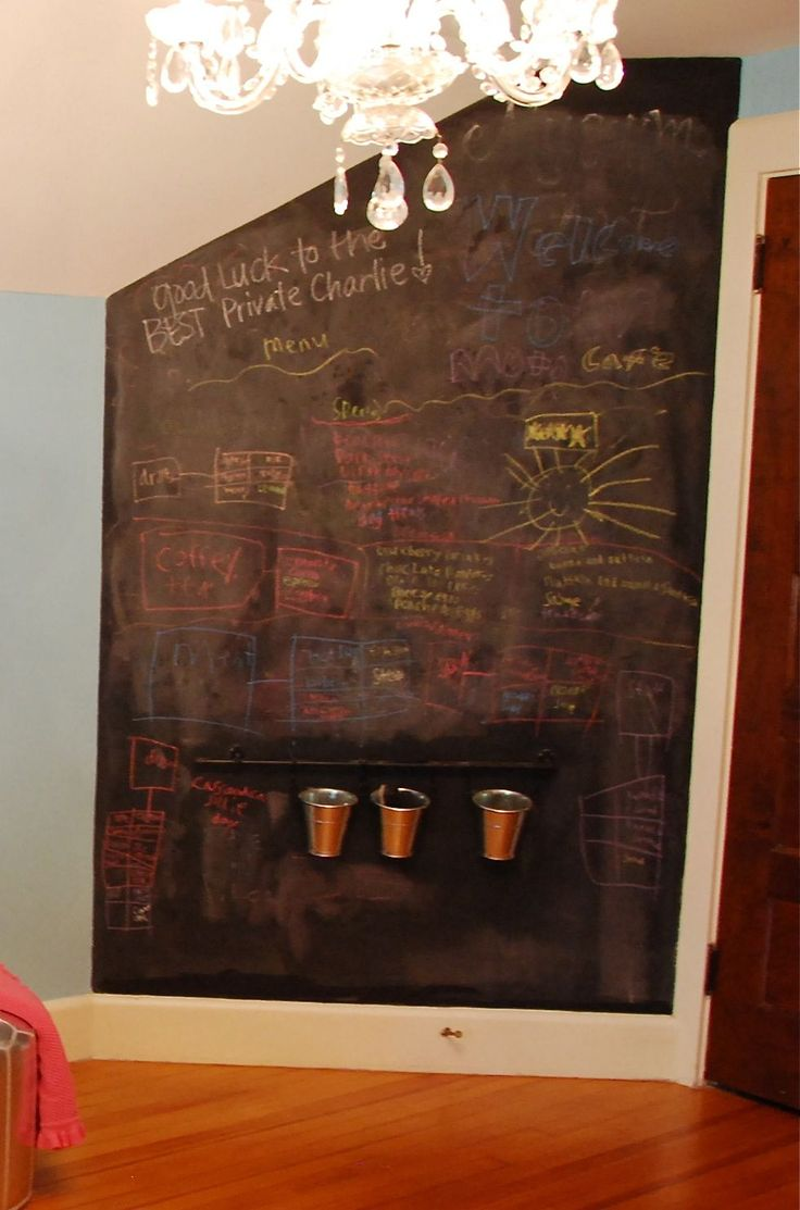Chalk Board Wall For Kids Room Decorating Pinterest