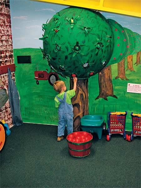 Your kids will love the apple orchard at Curious Kid's Museum