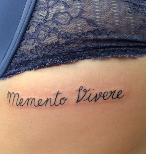 """Memento Vivere """"remember to live"""" Tattoo i got while in Amsterdam!"""