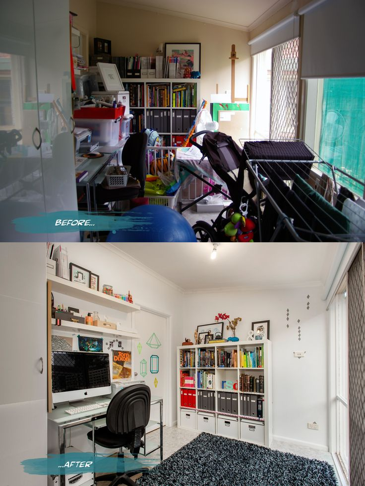 Office Before And After On Romona Sandon Designs Blog Interiors Beforeandafter Styling