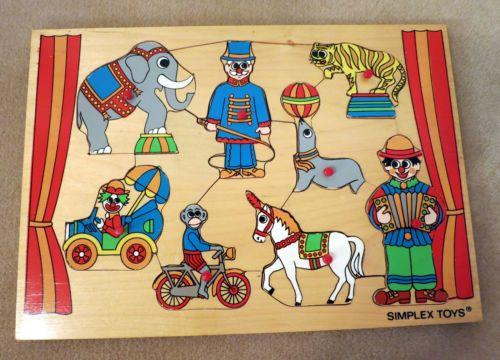 Houten puzzel 'circus'