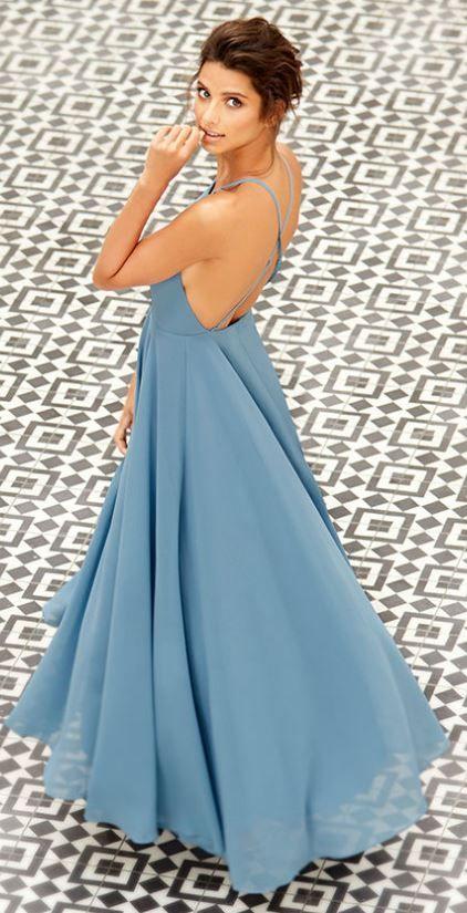 Perfect Bridesmaids dresses so much cheaper than stores!  blue maxi dress, backless maxi dress, open back maxi dress, prom dresses #weddinginspo affiliate