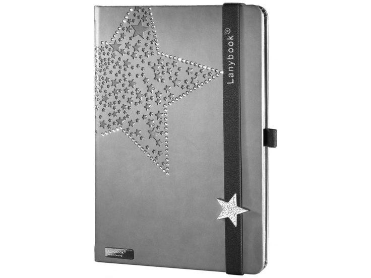 Designový dámský zápisník posázený krystaly Swarovski s lanybuttonem ve tvaru hvězdy. Nejvyšší kvalita v kombinaci s noblesní elegancí italské módy.