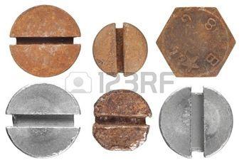 tuercas y tornillos: tornillos y pernos Foto de archivo