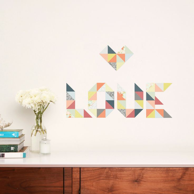 """Love the DIY of this design. Endless opportunities… and when its on fabric and can be moved around you can change this design when you need a little freshen up. Great for a quirky bedhead. When individuality is mandatory.  Sheet size: 430 x 380mm  Sizing: Individual triangle 50 x 50mm (2"""" x 2"""")  Sheet contains 82 triangles.  All our lovely stickers are made of adhesive fabric. This makes them perfect for children and adults alike, as they are removable and completely reusable. Simply just…"""