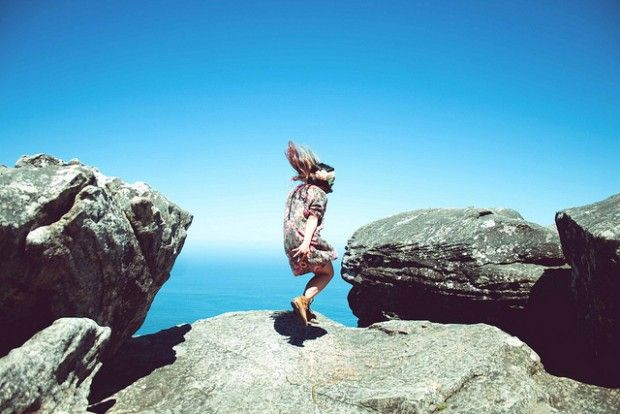 Would you jump for joy on top of Table Mountain?