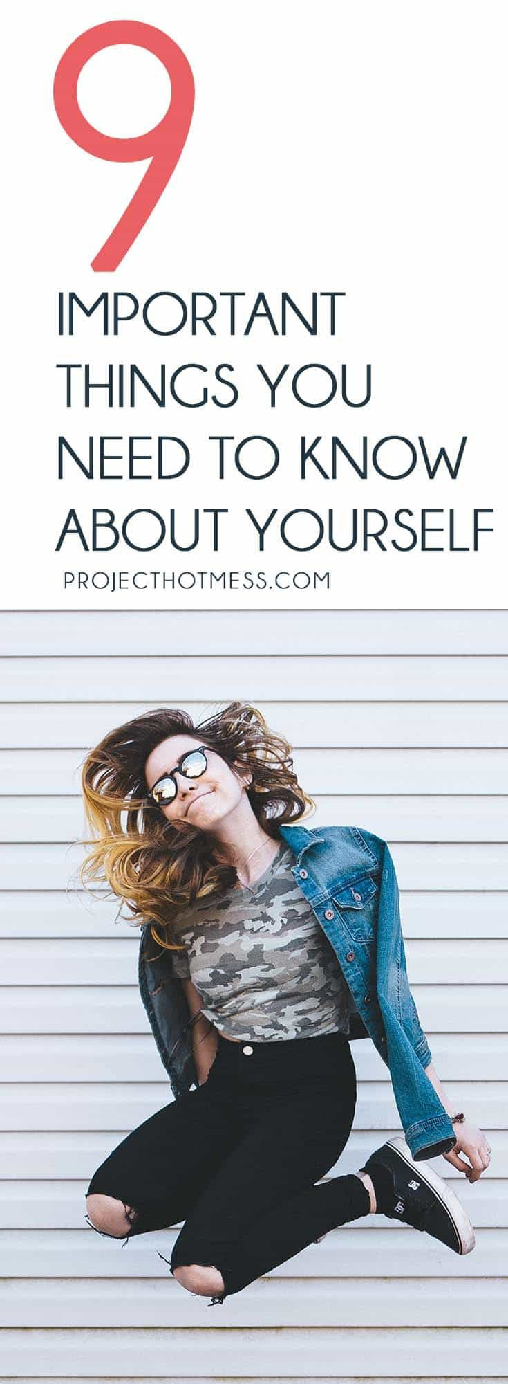 There are important things you need to know about yourself that can help you understand who you are, why you are the way you are and how to be even happier. Confidence | Self Confidence | Self Esteem | Love Yourself | Confidence Building | Confident Woman | Confidence In Yourself | Confident | Self Reflection | Personality | Personality Tests | Know Yourself