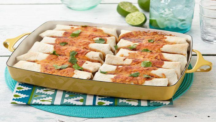 Guarda questa ricetta - Burritos di carne e fagioli – di Ree Drummond e altri gustosi piatti su Food Network