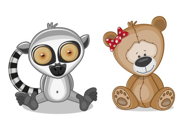 Cute Animal Collection 5 Graphic By Codeex Creative Fabrica In 2020 Cute Animals Animals Graphic