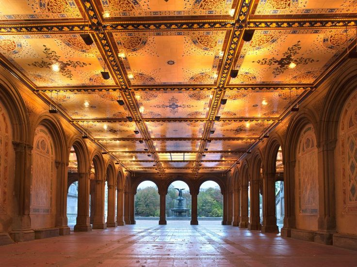 It's the heart of Central Park, which is itself, after all, the heart of New York City. Photo ops abound, whether on the sandstone steps that slope like broad, gentle arms