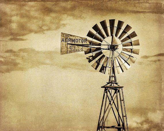 Rustic Decor Country Farmhouse Decor Old Windmill Pump