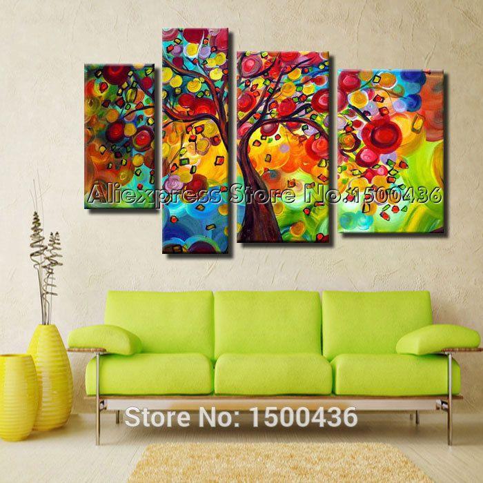 cuadros abstractos coloridos con espatula+pajaros - Buscar con Google