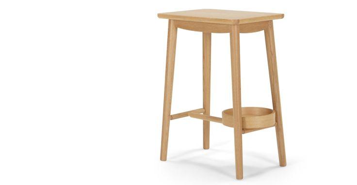 Penn Bedside Table, Oak
