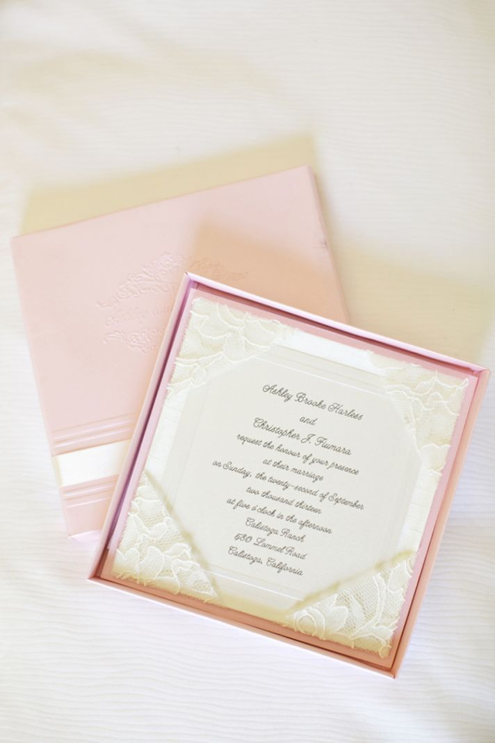lace wedding invitation wrap%0A Pink lace invitations