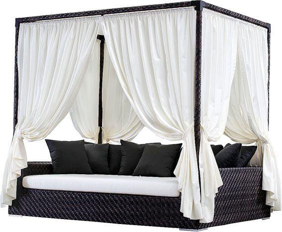 Backyard cabana bed. OMG want this!