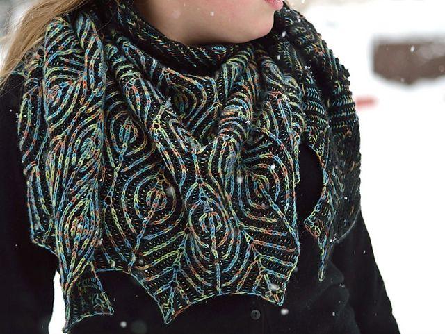 Ravelry: Peacock's Pride shawl pattern by Raina K
