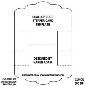 Scallop Edge Stepper Card Template - www.craftforums.co.uk