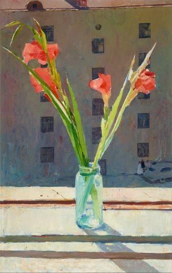 Tahir Salahov. Gladioluses. 1958