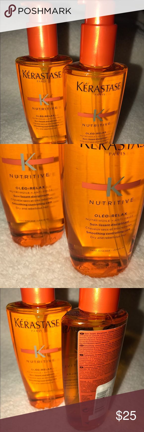 Kerastase Nutritive Oleo Relax Serum Brand new, never used. Kerastase Nutritive Oleo-Relax Smoothing Concentrate Care (Dry & Rebellious Hair). Formulated to groom dry, frizzy, unmanageable hair. This product really works. Leaves your hair feeling soft, manageable and shiny. Accessories Hair Accessories