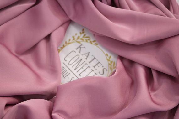 241 Pink Gardenia Silk Satin Fabric by the yardLining