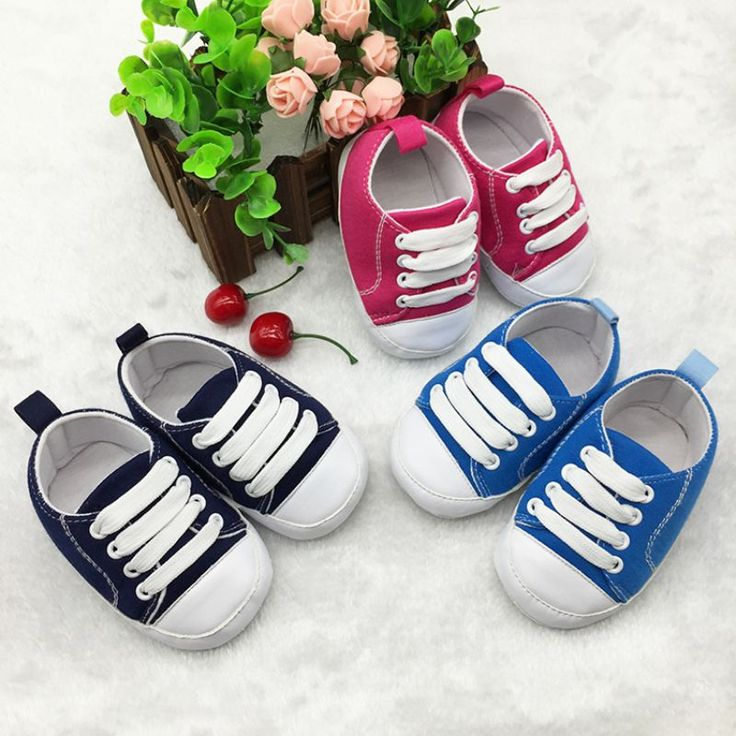 New Infant Toddler Sports Sneakers Soft Soled Anti-slip Newborn Baby Canvas Crib Shoes