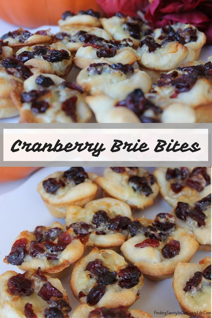 These delicious Cranberry Brie Bites are the perfect appetizer for a tasty blend of cheese and cranberry. #BetterWithCraisins #AD