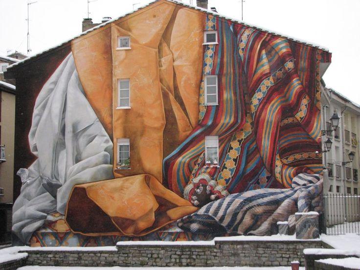 Mindblowing!!  Street Art in Vitoria-Gasteiz, Spain. By Collectiv IMVG 2