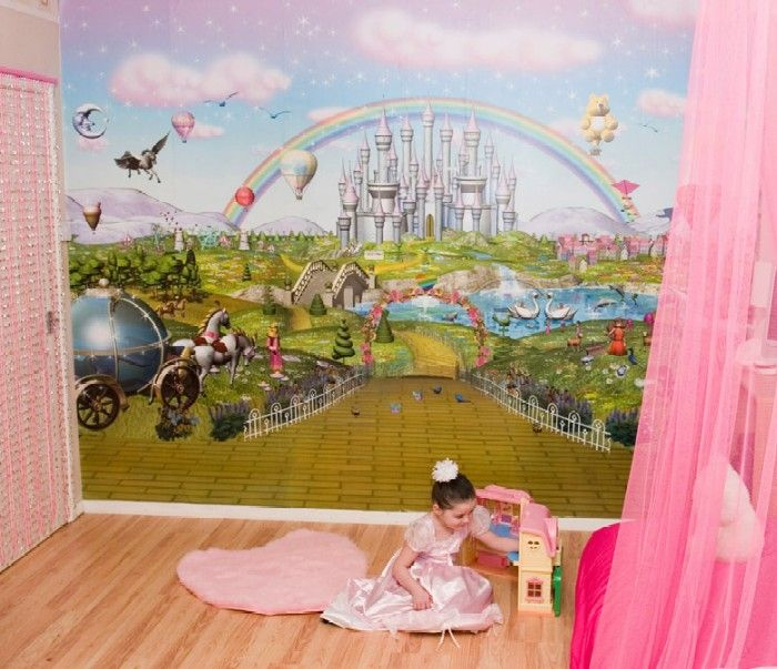 17 best ideas about kids wall murals on pinterest kids for Children wall mural ideas