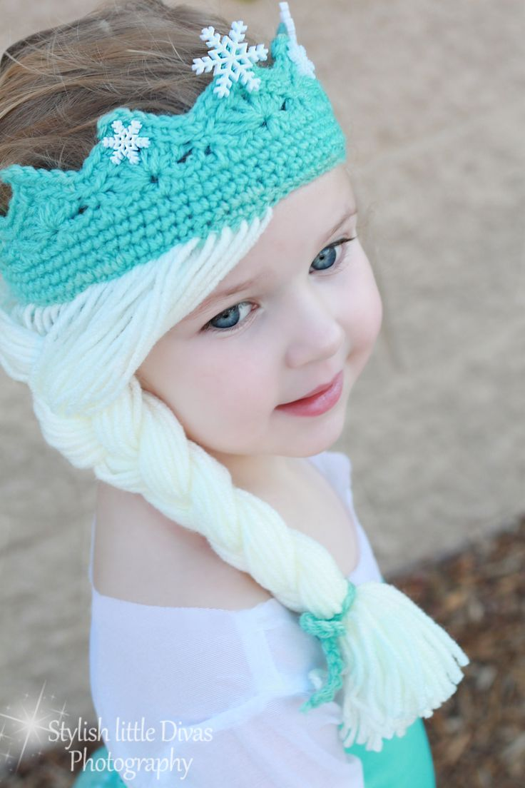 Crochet Hat Pattern For Elsa : Elsa Frozen Disney Movie Tiara Crown crochet hat on etsy ...