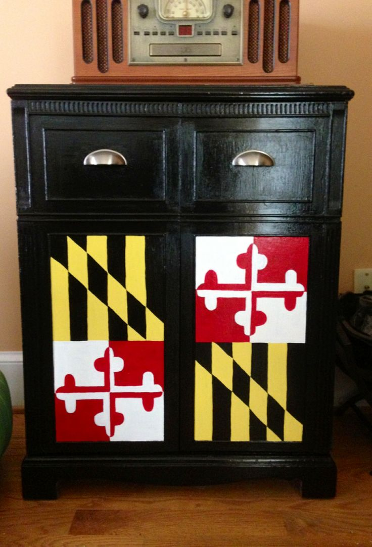 Maryland Pride Could adapt this to Arizona's flag (top/bottom drawers)...