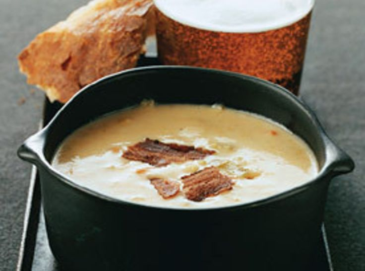 Cheddar-Ale Soup...yummilicious soup!  sw☺