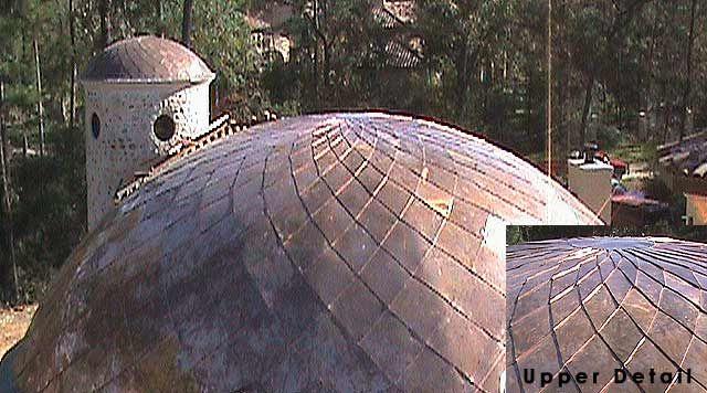 Diamond Swirl Copper Shingle Dome And Elipse Domes