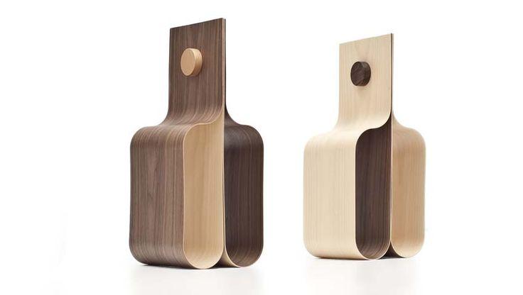 Portabottiglie e portariviste: Incurva di Formabilio. #artigianato #design #craft