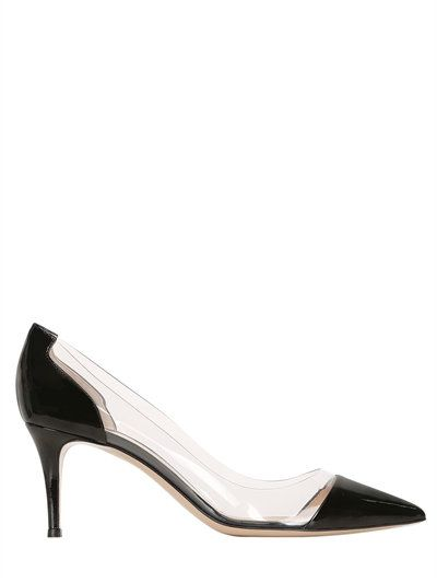 GIANVITO ROSSI - 70MM PLEXI & PATENT LEATHER PUMPS - BLACK. Cat LogoPatent  Leather PumpsWomen's PumpsShoes ...
