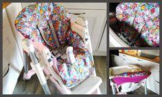Réalisez vous même votre housse pour chaise haute prima pappa diner. En utilisant ce patron pour refaire un coussin complet. Il suffit d'utiliser 2 fois le patron et de rembourrer.  En coton enduit ou PUL Avec une machine à coudre