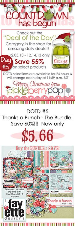 "DOTD #5 is up at PBP! Save 60% on my ""Thanks a Bunch - The bundle""!  https://www.pickleberrypop.com/shop/product.php?productid=28352&cat=106   Be sure to check out the other DOTD products at PBP! https://www.pickleberrypop.com/shop/home.php?cat=106"