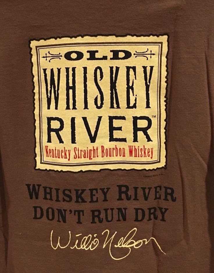 Old Whiskey River T Shirt Kentucky Bourbon Willie Nelson Signature Size M Men's  | eBay
