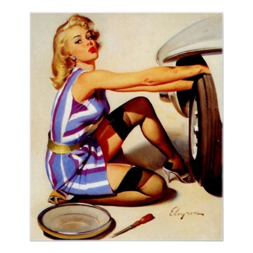59 best Classic Car Pin up Girls images on Pinterest | Pin ...