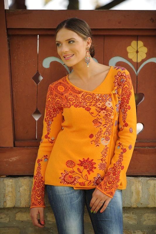 KOOI Knitwear 14021-Sweater / 8-Orange