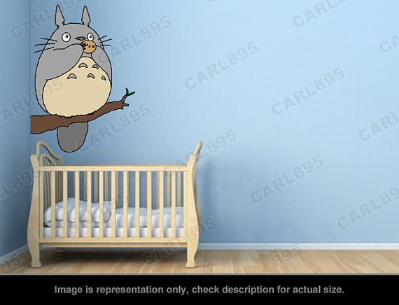 Inspiré de Totoro - arbre de Totoro flûte Wall Sticker Art Applique