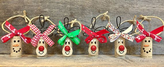 If you are searching for unique wine gift sets for people on your shopping list, you just found the perfect gift! This wine gift set of 4 Rudolph cork ornaments and 2 Snowman cork ornaments will come perfectly packaged for the holidays. ~Place an ornament around the neck of each