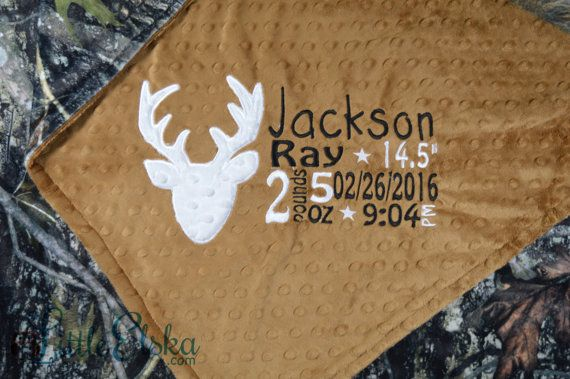 Came Blanket Personalized Camo Blanket Camo Birth by LittleElska