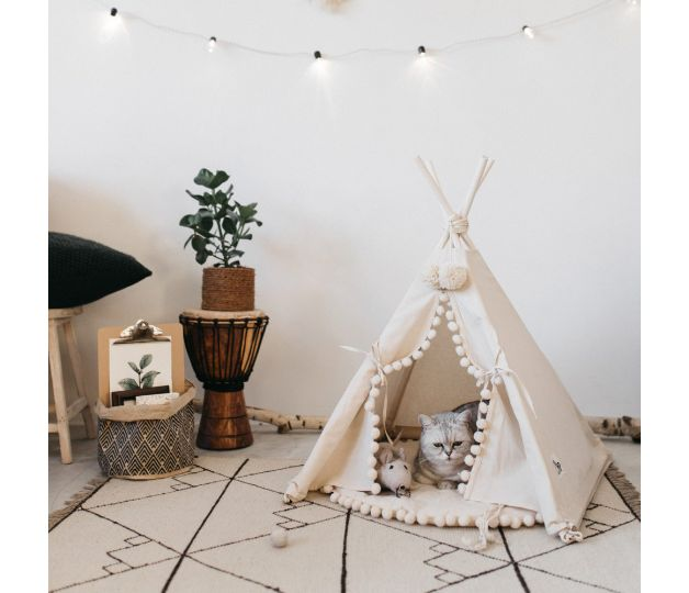 * Please note this is made to order item and the production time takes up to 7 days! *  TWO SIZES AVAILABLE *all pictures shown above are of a smaller sized teepee*  I made my first play tent...